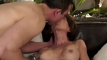Grandma pussy banged from behind