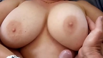 Cumming All Over will not hear of Broad in the beam Milf Titties