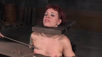 Tattooed NT tormented submissive caned rough