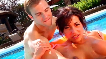 Let'_s Fuck Away - Busty &amp_ Fit Brunette Fucks Neighbour in Away Pool