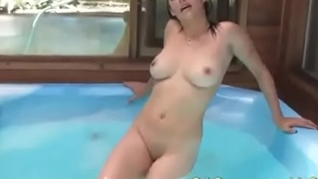 Busty Canadian Arizona Fucks Herself Silly In A Hottub