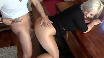 Sexy blonde receives fucked in pantyhose www.livechatbabes.com