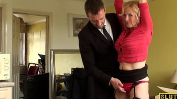 Grown-up uk sub gets cuffed and dominated over