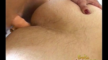 Lusty flaxen-haired floosie likes fucking her man&rsquo_s tight asshole really hard