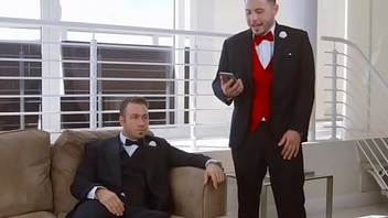 Chubby cully cheating and fucks best man on her wedding day